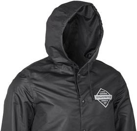 black jacket hood