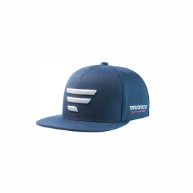 white logo/blue snapback