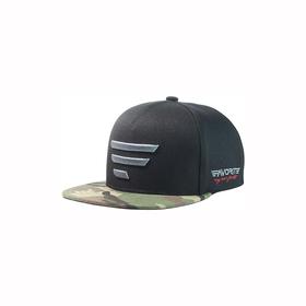 gray logo/camo-black snapback